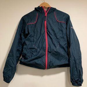 🎄Columbia girls navy and pink windbreaker jacket
